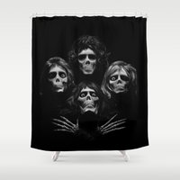 queen Shower Curtains featuring Queen by C.t. Chain