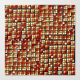 Yellow Red pixels fashion Canvas Print