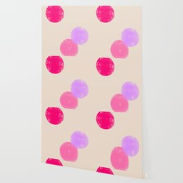 Let's Appreciate Our Shapes no.13 - pink minimal art Wallpaper
