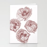 poppies Stationery Cards featuring Poppies by Annike