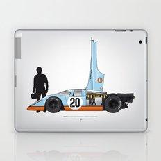 Outline Series N.º4, Steve McQueen, Porsche 917, Le Mans movie 1971 Laptop & iPad Skin