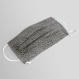 Hand Knit Dark Grey Face Mask