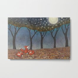 sleepy foxes Metal Print