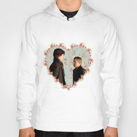 johnlock Hoodies featuring Hearted Johnlock by thescudders
