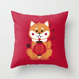 Happy Dog Year Throw Pillow