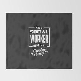 Gift for Social Worker Throw Blanket