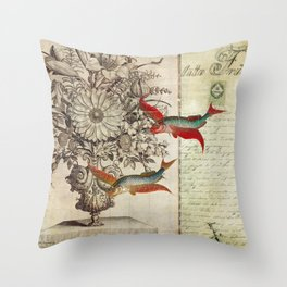 Fish of a Feather Throw Pillow