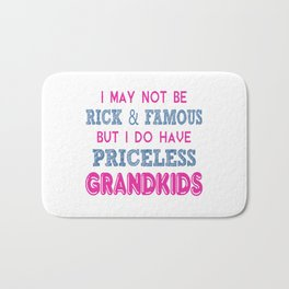 Priceless Grandkids Bath Mat