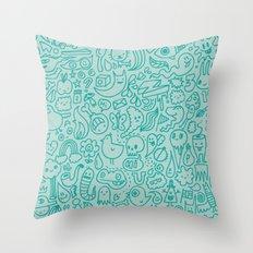 Chalk Doodle Throw Pillow