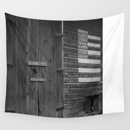Barn with American Flag Wall Tapestry
