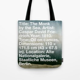 The Monk by the Sea, Caspar David Friedrich, 1810, Alte Nationalgalerie, Berlin Tote Bag