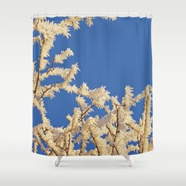 Frosted Trees Winter Shower Curtain