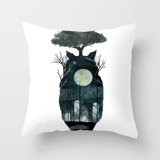 March of the Forest Spirits Throw Pillow