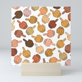 Middle Fingers Pattern 2 Mini Art Print