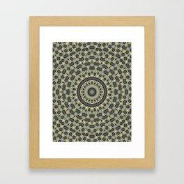 Abstraction, circular pattern Framed Art Print