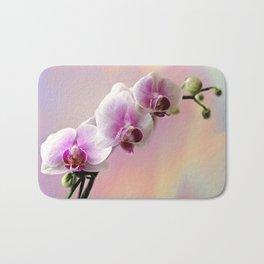Pastel Rainbow Orchid Bath Mat