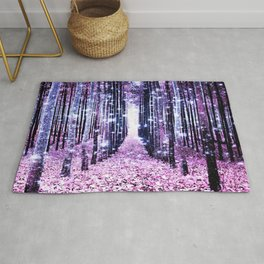 Magical Forest Path Lavender Pink Periwinkle Rug