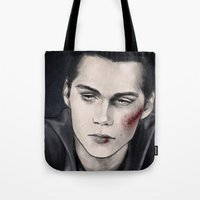stiles Tote Bags featuring Stiles by ribkaDory