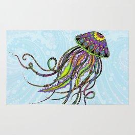 Electric Jellyfish Rug
