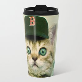 Baseball Kitten #3 Travel Mug