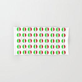 Flag of Italy in a polka dot - Italy,Italia,Italian,Latine,Roma,venezia,venice,mediterreanean,Genoa, Hand & Bath Towel