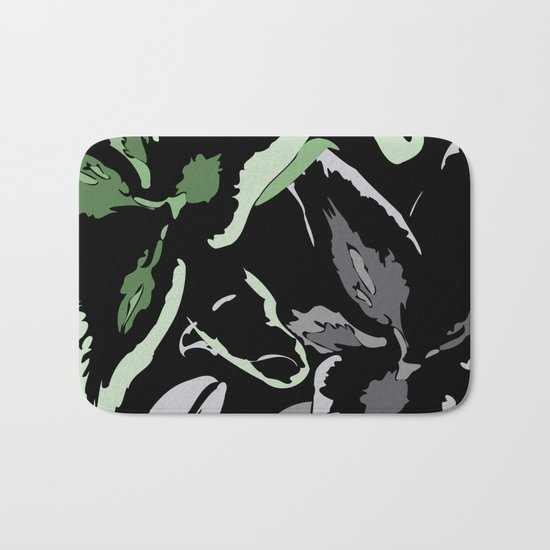 FLORAL ABSTRACTION Bath Mat