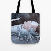 jack frost Tote Bags featuring Jack Frost by Kiell R.