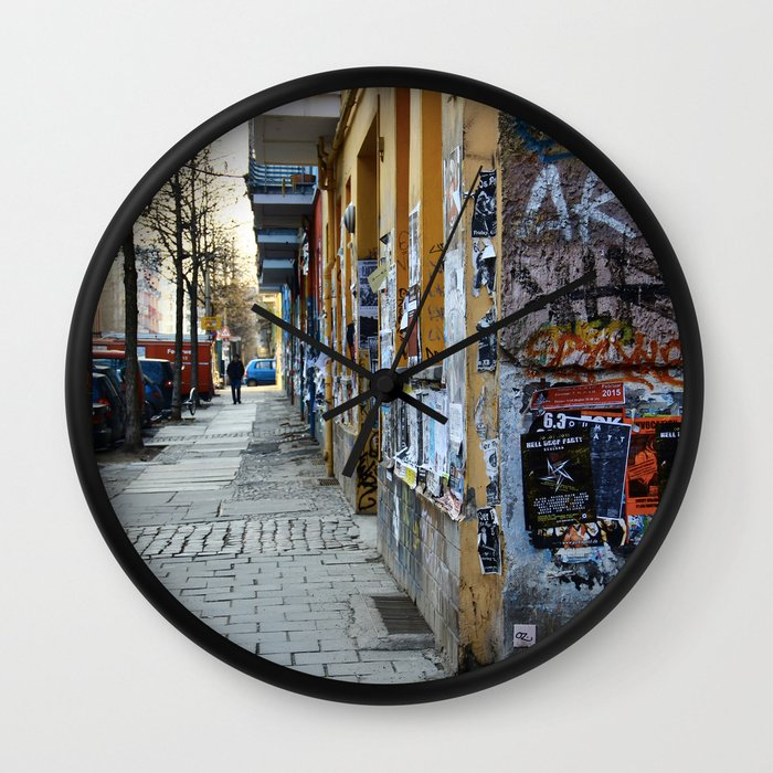 BERLIN - Street photography - slap tag Wall Clock