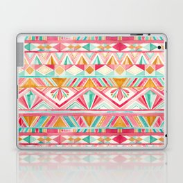 Spring Gems // Pink Gold and Turquoise Geometric Pattern Laptop & iPad Skin