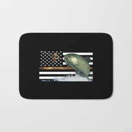 Trout: Thin Line Flag Bath Mat