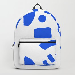 Brush Stroke Minimal 19 - Abstract Pattern Shapes Modern Mid Century Texture Blue. Gift idea Home deco Backpack