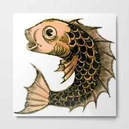 """William De Morgan """"Fantastic Animal - Fish"""" 1. Metal Print"""