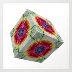 Oriental Smoke 2 3D Cube Art Print