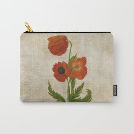 Vintage painting- Bunch of poppies Poppy Flower floral Carry-All Pouch