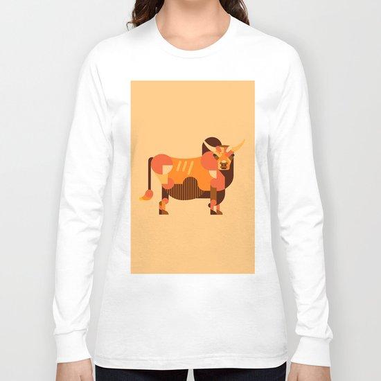 Bull Orange Long Sleeve T-shirt