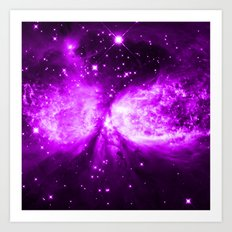 Star Angel Violet Art Print