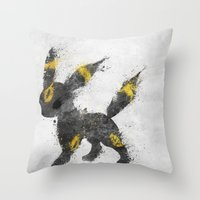 the moon Throw Pillows featuring Moon by Melissa Smith