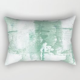 Dark sea green vague watercolor Rectangular Pillow