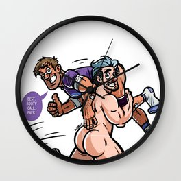 Clint & Pietro Wall Clock