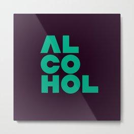 Alcohol Metal Print
