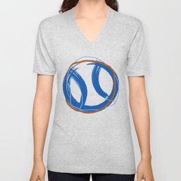 Tnns Ball Blue Unisex V-Neck