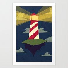 A Light house Art Print