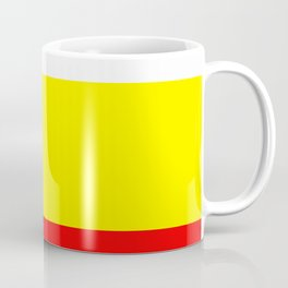TEAM COLORS 9...Red, white and yellow Coffee Mug