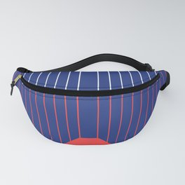 Minimal Line Art Red and Blue Fanny Pack