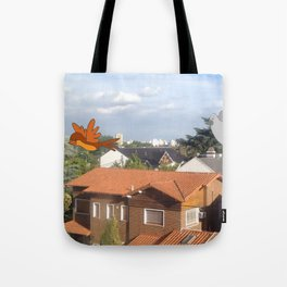 Flying with friends. Tote Bag