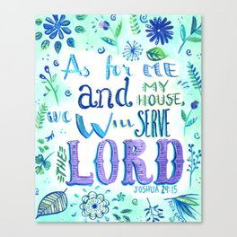 Purple and Blue Bible Verse Canvas Print