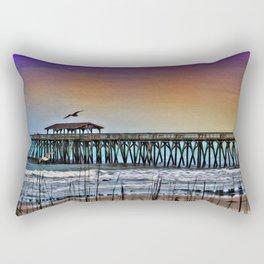 Myrtle Beach State Park Pier - Photo as Digital Paint Rectangular Pillow