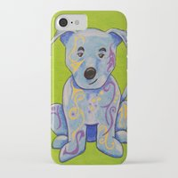 pitbull iPhone & iPod Cases featuring Pitbull by K.ForstnerArt
