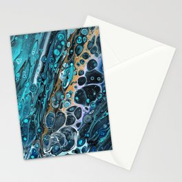Spaced Out Acrylic Abstract Stationery Cards