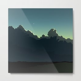 Cloudscape Blue and Green Metal Print